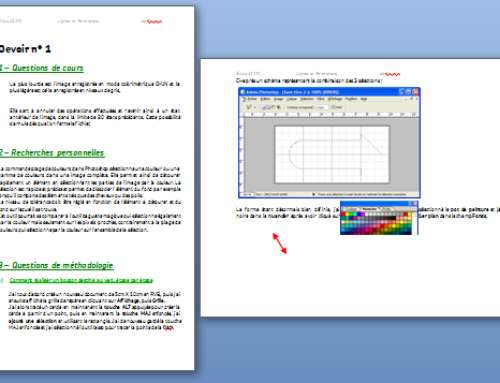 Insérer une page en format paysage dans un document en format portrait dans Word