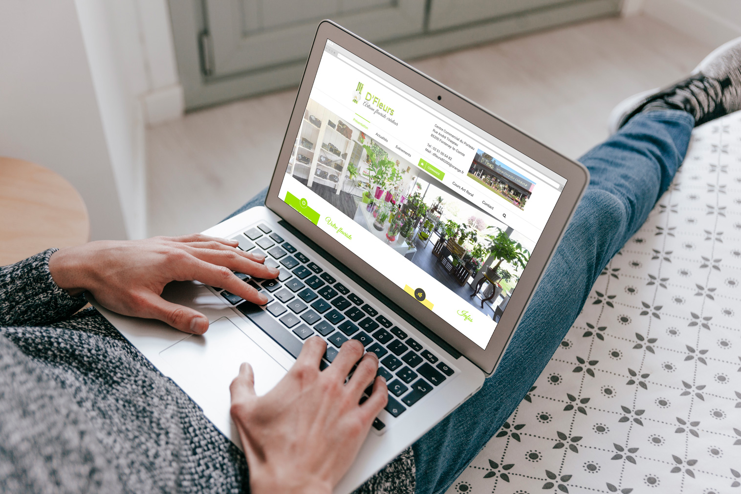Creation site internet DFleurs