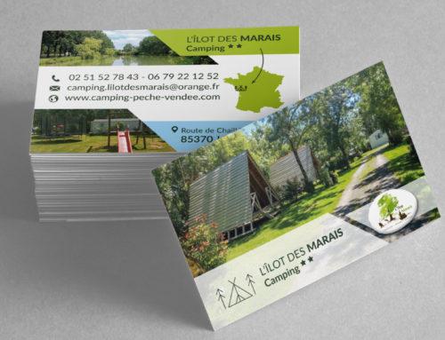 Carte de visite Camping L'Ilôt des Marais