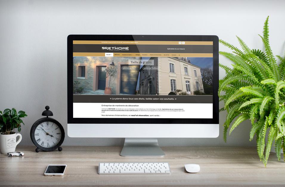 Creation site internet Sitadi Vendee Entreprise Brethomé Pierres