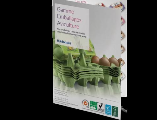 Plaquette présentation gamme emballages aviculture – Huhtamaki